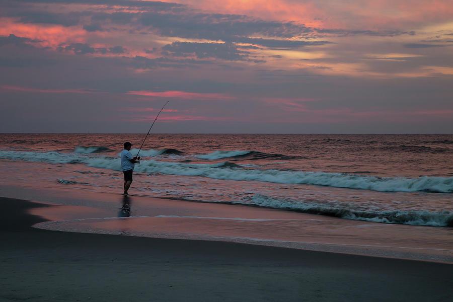 Beach Photograph - Solitude At Sunrise by Carol DeGuiseppi