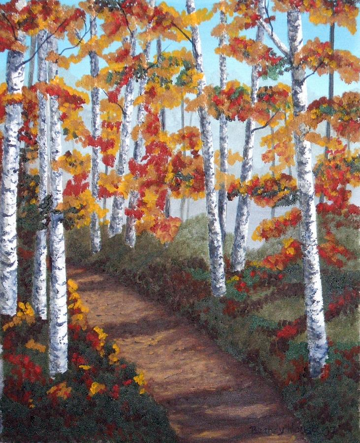Fall Painting - Solitude by Brandy House