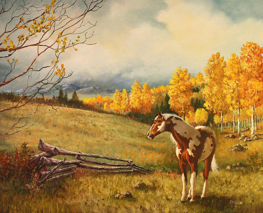 Equine Painting - Solitude by David Gage