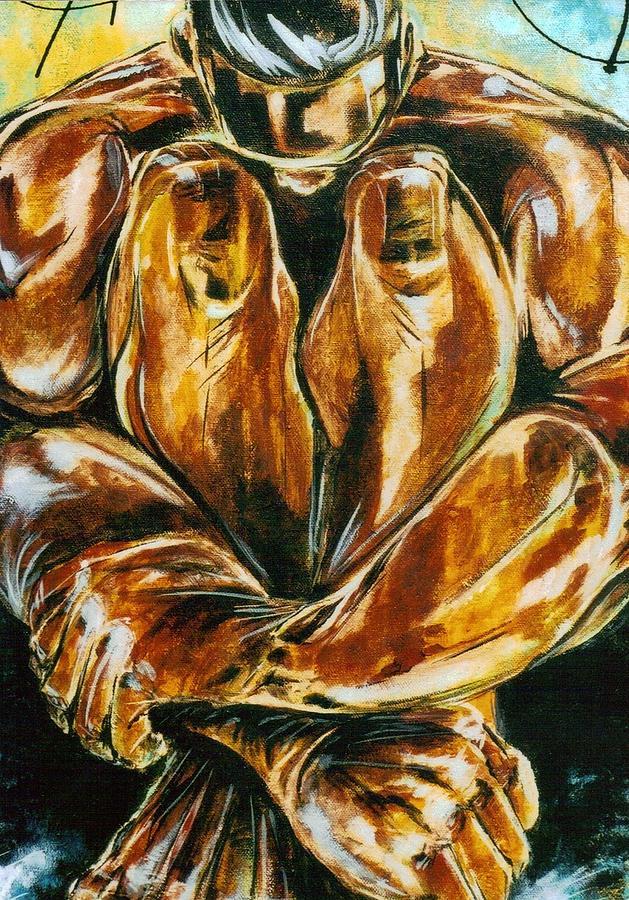 Figure Painting - Solitude by Hasaan Kirkland