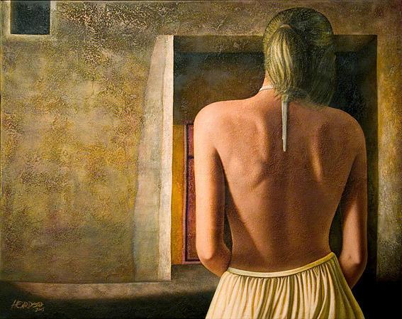 Nude Painting - Solitude by Horacio Cardozo