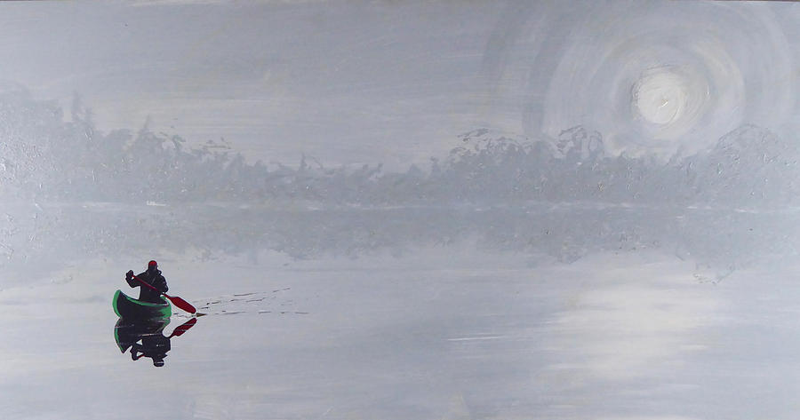 Kayak Paddle Painting - Solitude by Jack Hanzer Susco