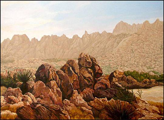 Desert Painting - Solitude by Jack Knight
