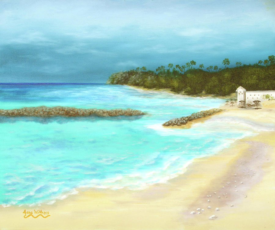 Seascape Painting - Solitude by Jana Withers