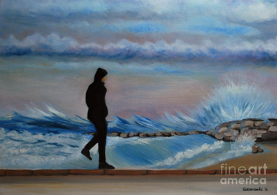Seascape Painting - Solitude by Kostas Koutsoukanidis