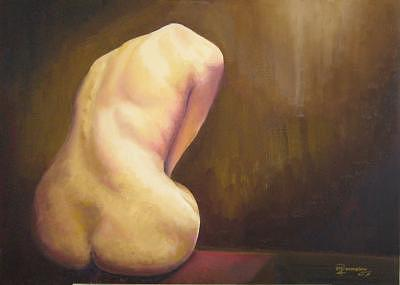 Nude Painting - Solitude Longing by Marcello Romeiro