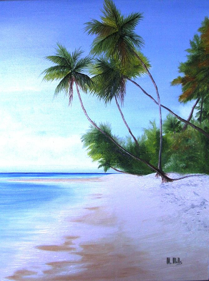 Beaches Painting - Solitude by Maria Mills