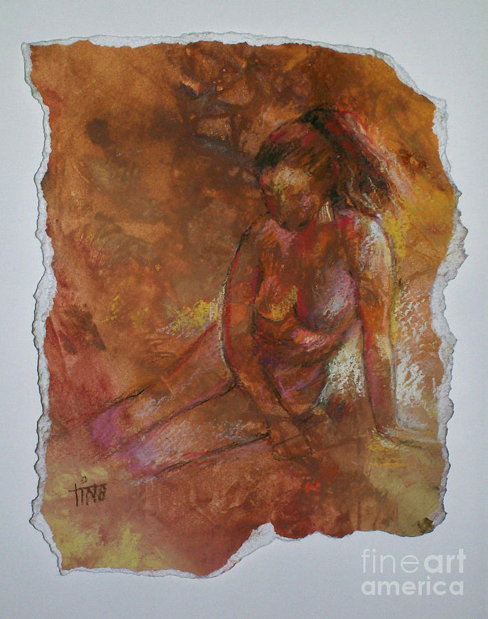 Figurative Painting - Solitude by Tina Siddiqui