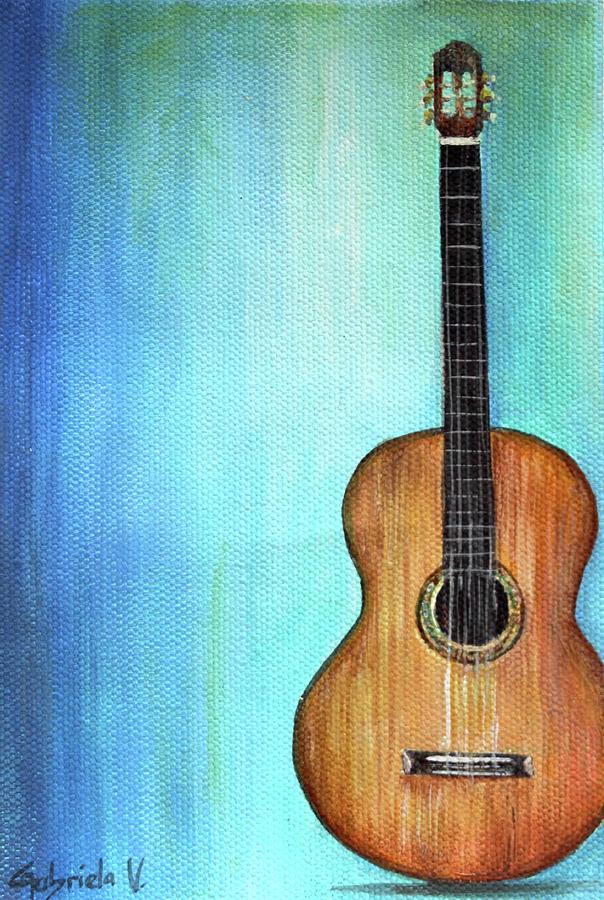 Paintings Painting - Solo De Guitarra by Gabriela Valencia