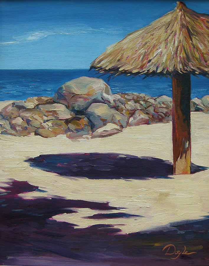 Ocean Painting - Solo Palapa by Karen Doyle