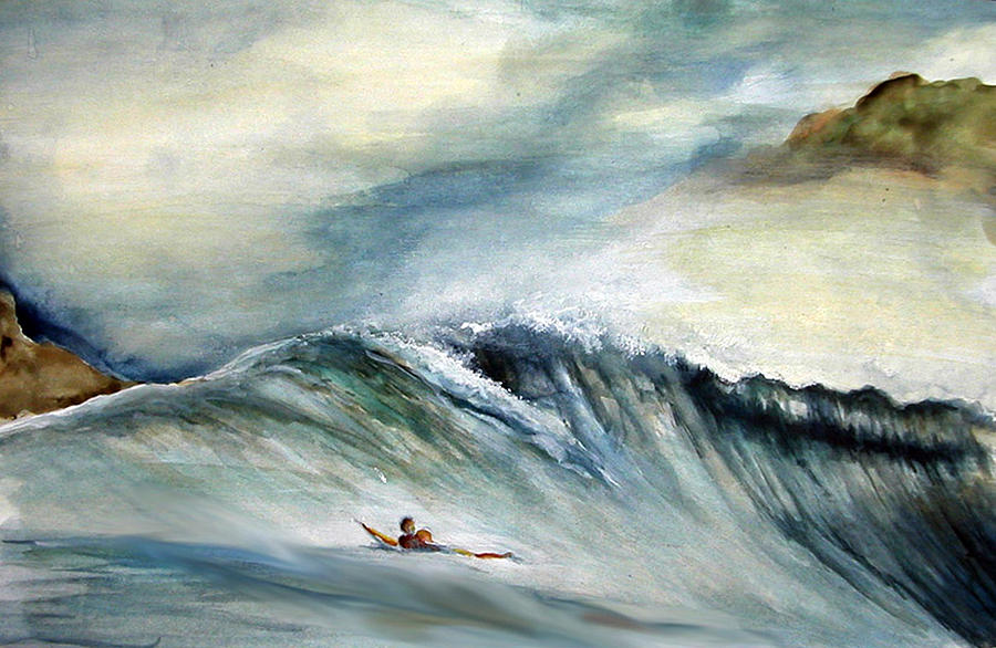 Surf Painting - Solo by Robert  Nelson