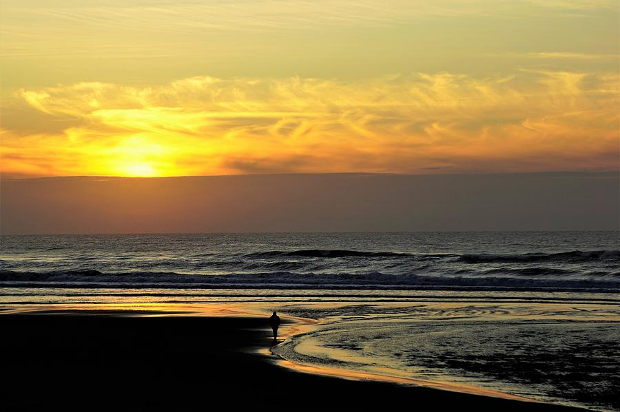 Solo Sunset on the Beach by Tranquil Light Photography