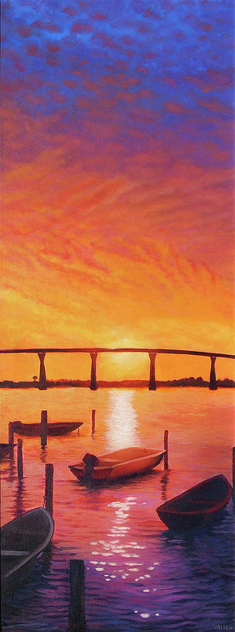 Thomas Johnson Bridge Painting - Solomons Magic by Suzanne Shelden