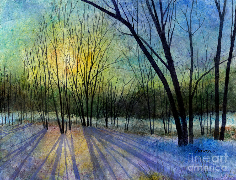 Winter Painting - Solstice Shadows by Hailey E Herrera
