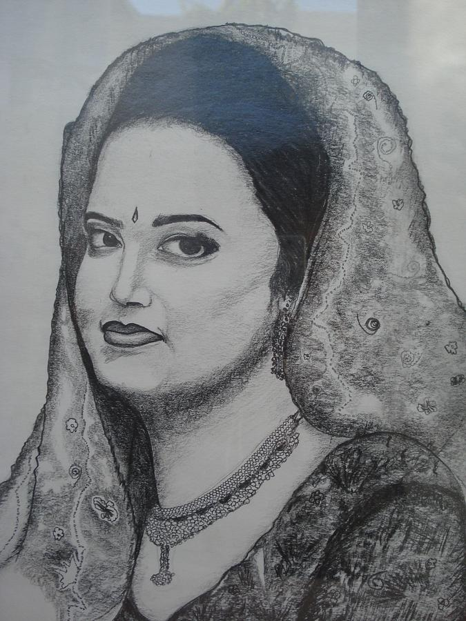 Som1 Drawing by Rameez Haider