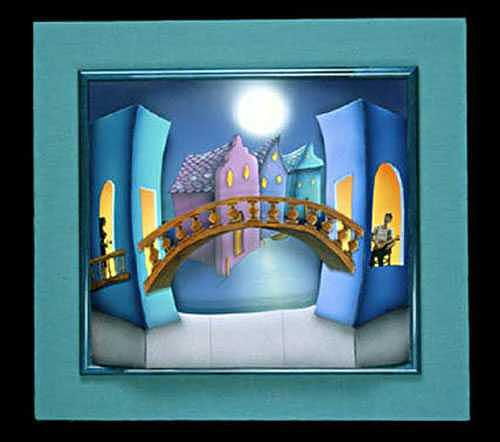 Bridge Painting - Some Enchanted Evening by Valerie Walsh