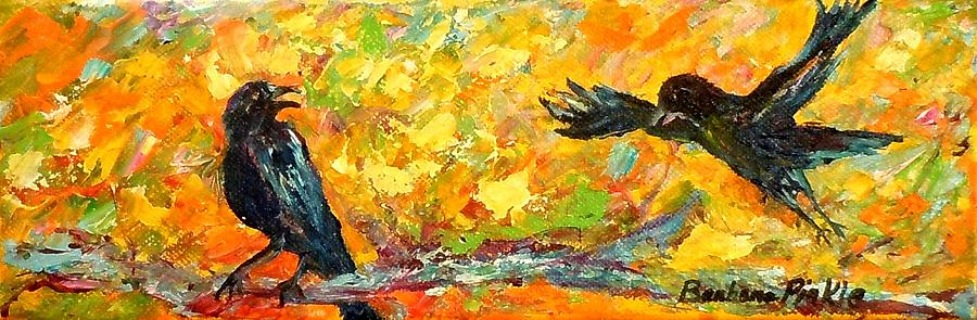 Crows Painting - Some Glad Morning by Barbara Pirkle
