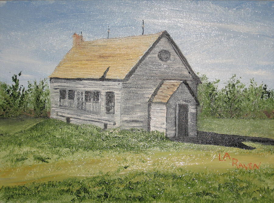Old Building Painting - Somebody Once Loved Me by L A Raven