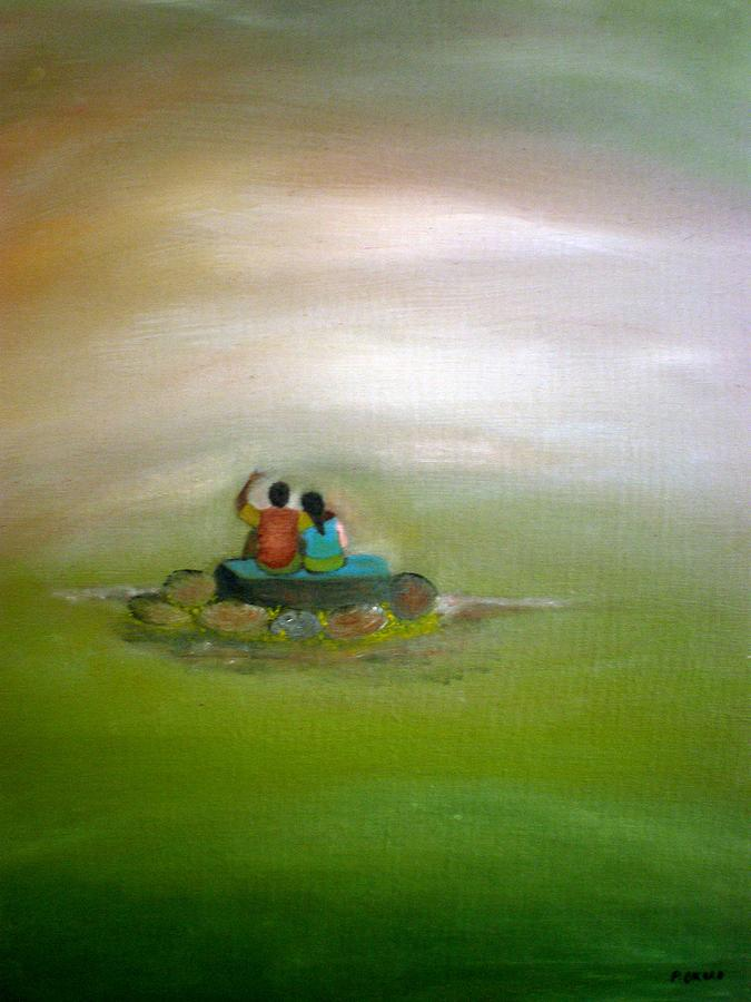 People Painting - Someday by Philip Okoro
