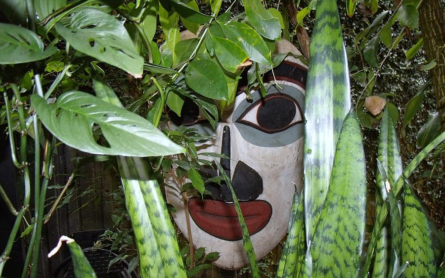 Native American Mask Photograph - Someone Is Watching by Donna Parlow
