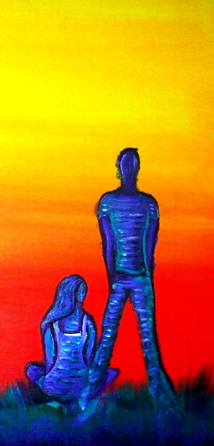 Couple Painting - Someone To Watch Over Me by Brenda Higginson