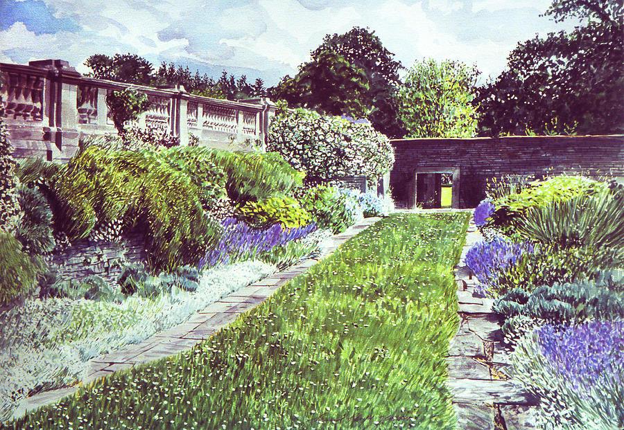 Gardens Painting - Somerset Garden by David Lloyd Glover