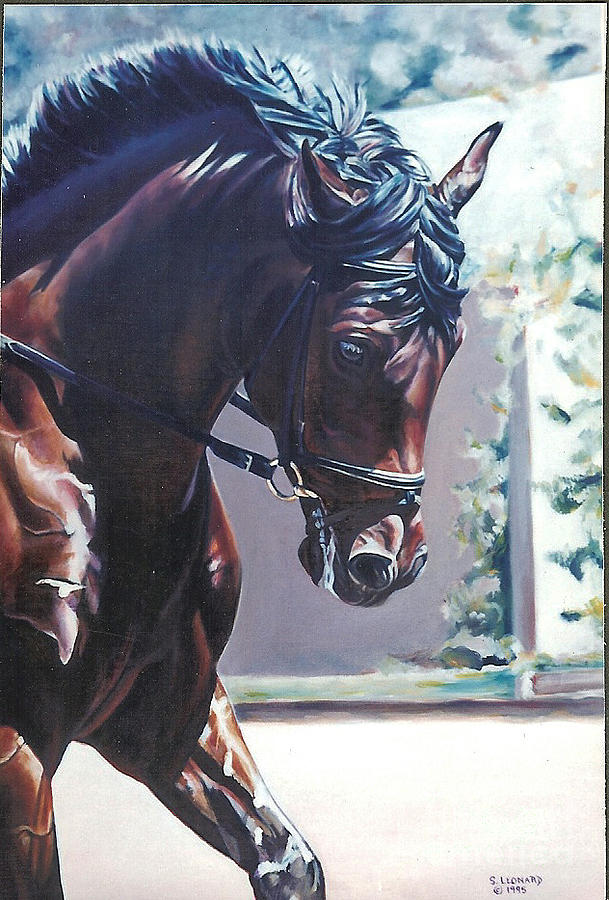Horse Painting - Somerset by Suzanne Leonard