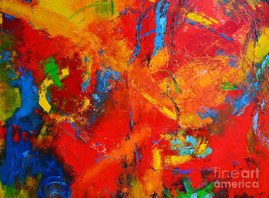 Something About You Modern Abstract Oil Painting Palette Knife work by Patricia Awapara