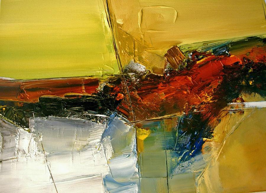 Abstract Painting - Something Always Lies  Beneath  Or Above by Stefan Fiedorowicz