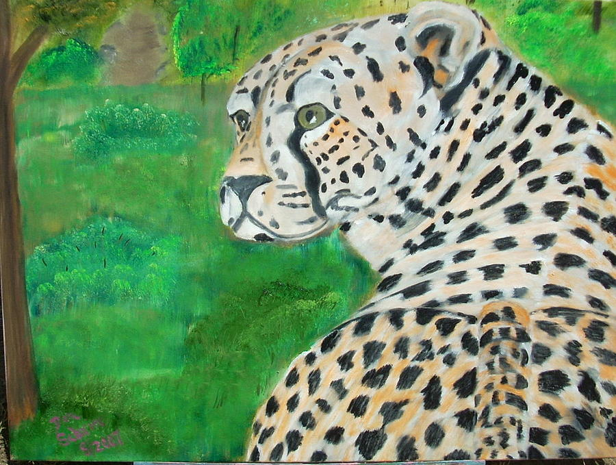 Leopard Painting - Something Caught His Attention by Donald Schrier