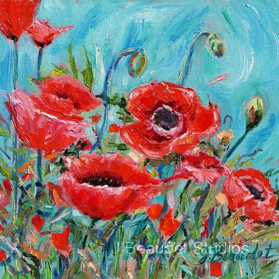 Poppies Photograph - Something Cheery For This Dreary Day! by Jennifer Beaudet Zondervan