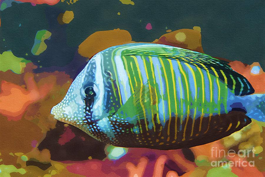 Fish Painting - Something Fishy by Deborah MacQuarrie-Selib