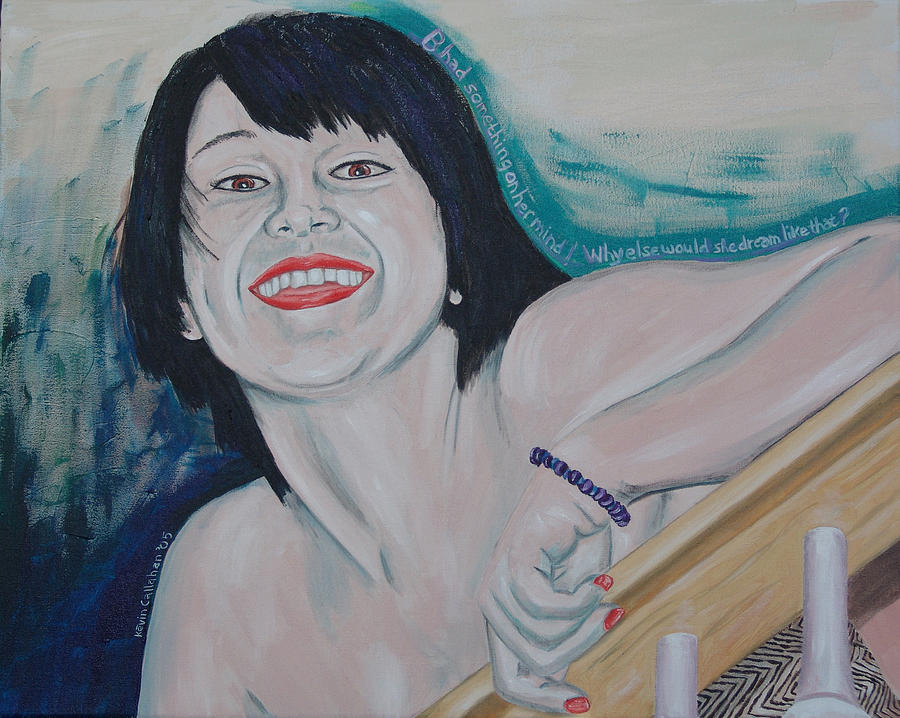 Kevin Callahan Painting - Something on her Mind by Kevin Callahan