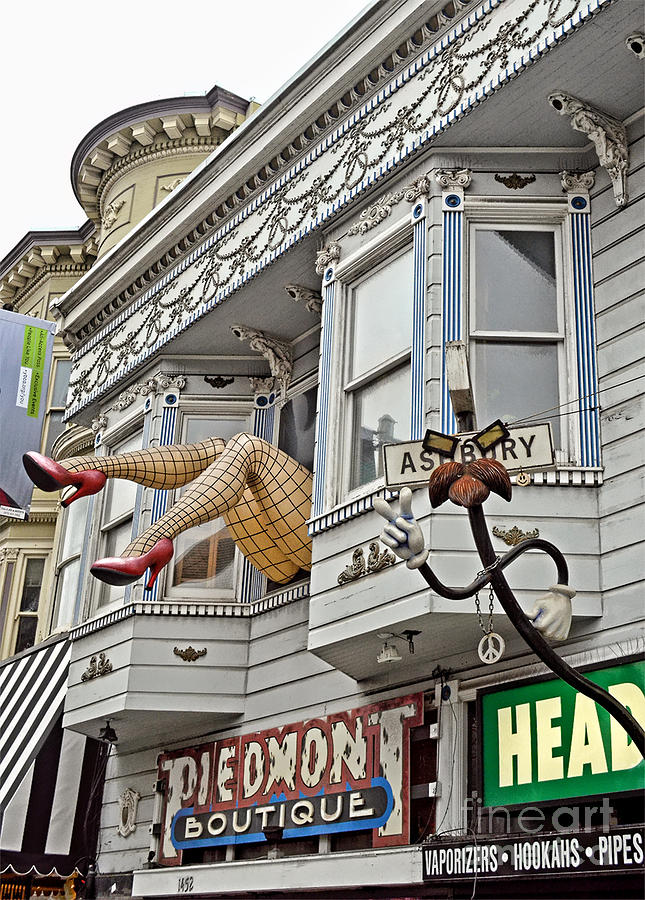 Legs Photograph - Something To Find Only The In The Haight Ashbury by Jim Fitzpatrick