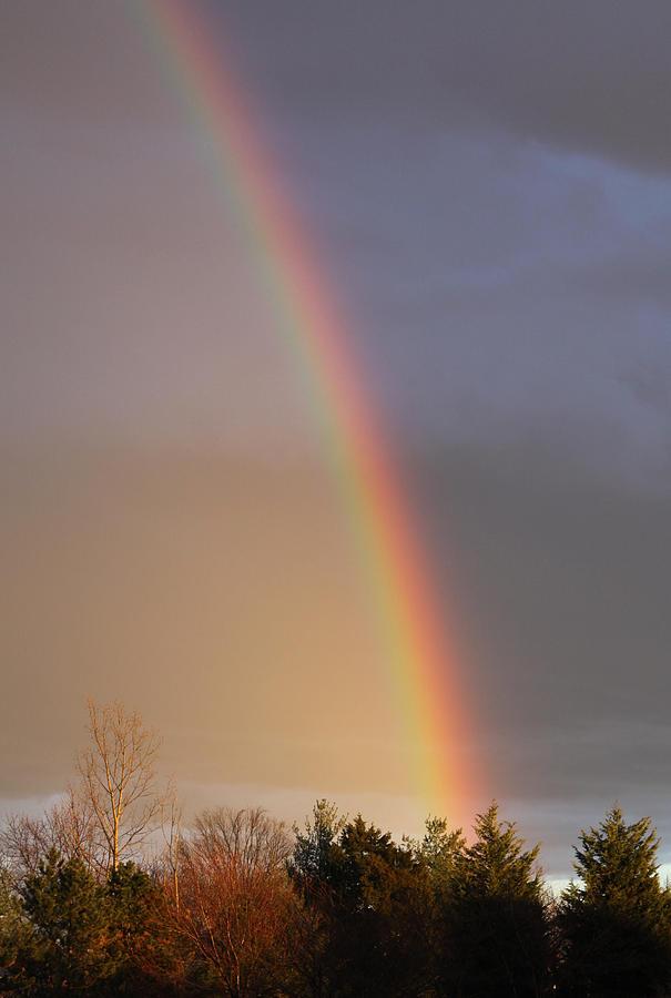 Rainbow Photograph - Somewhere....... by Beth  Morris