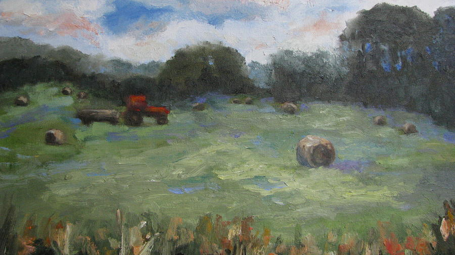 Landscape Painting - Somewhere In Oklahoma by Sharon Franke