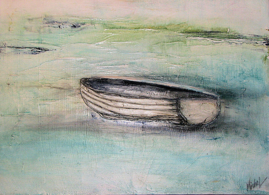 Boat Painting - Somewhere by Michelle Lopate