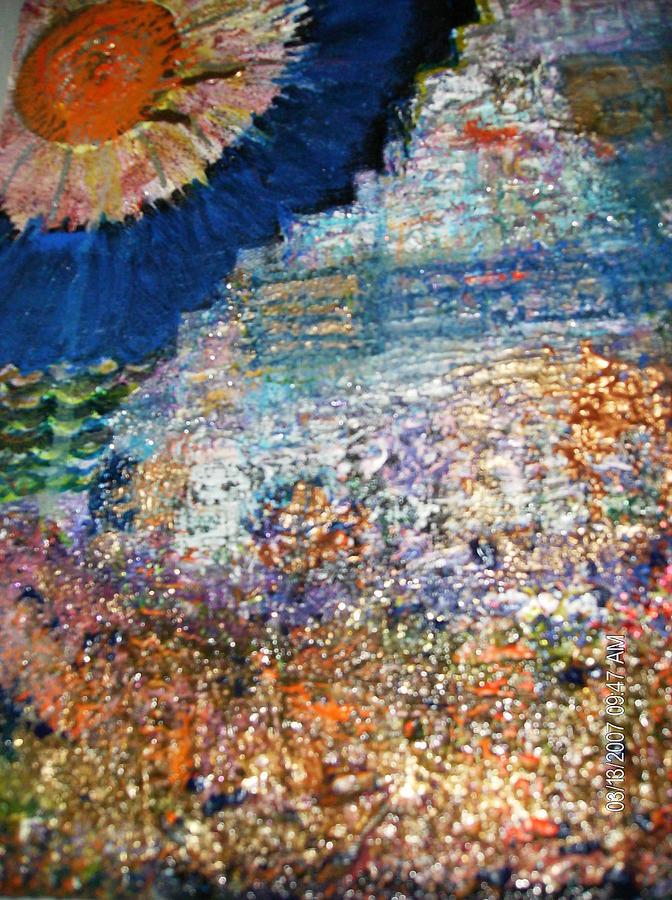 Roughterrain Mixed Media - Somewhere On Jupiter by Anne-Elizabeth Whiteway