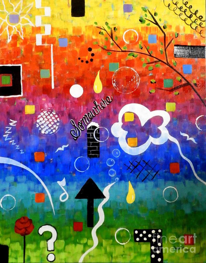 Rainbow Painting - Somewhere Over The Rainbow by Sandra Lett
