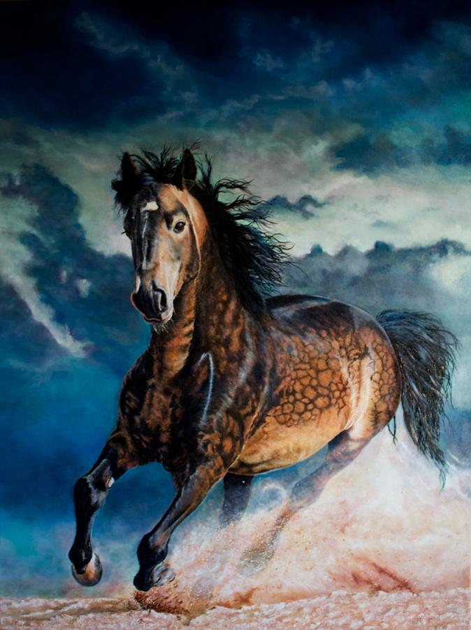 Equestrian Painting - Somnium Equinae - Equine Dreams by Roland Miguel