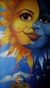 Mural Painting - Son Of A Sun by Janet Gioffre Harrington