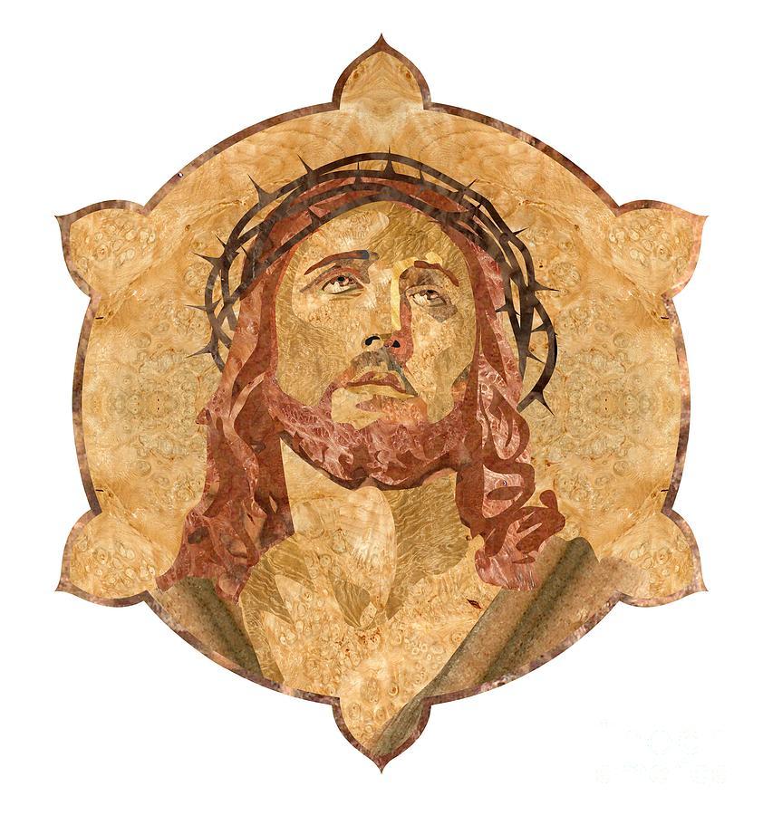 Jesus Pyrography - Son Of God by Aydin Kalantarov