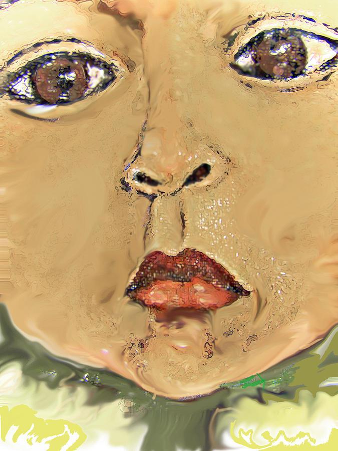 Portrait Painting - Sonflower by Noredin Morgan