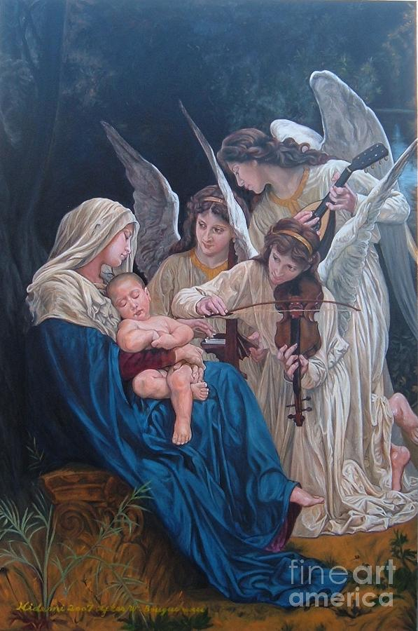 Bouguereau Painting - Song Of Angels After W. Bouguereau by Hidemi