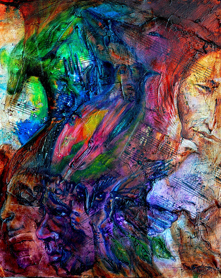 Music Painting - Song Of Dreams by Sofanya White