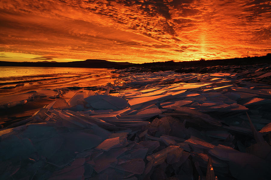 Ice Photograph - Song Of Ice And Fire by Justin Johnson