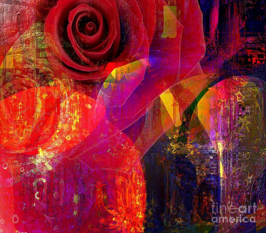 Fania Simon Mixed Media - Song Of Solomon - Rose Of Sharon by Fania Simon