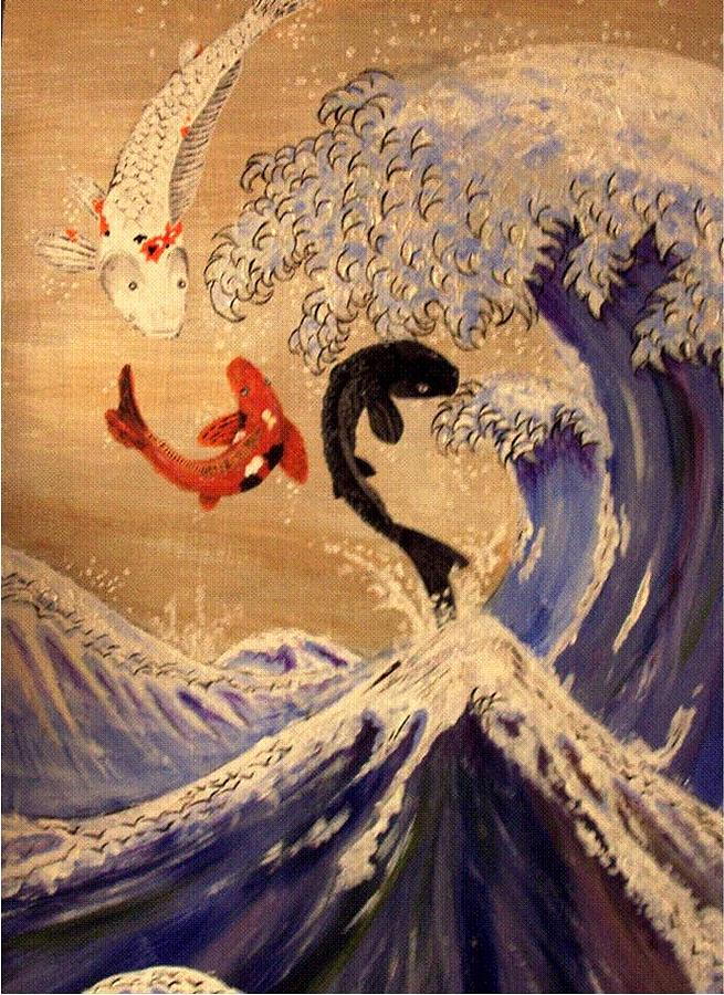 Fish Painting - Song Of The Sea by Kaidan Whitehouse
