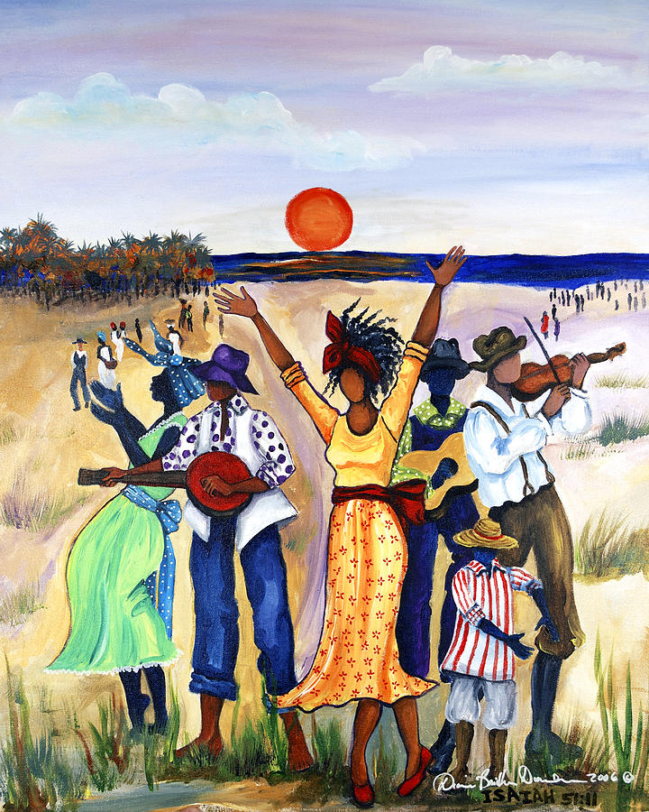 African American Wall Art   Painting   Songs Of Zion By Diane Britton Dunham