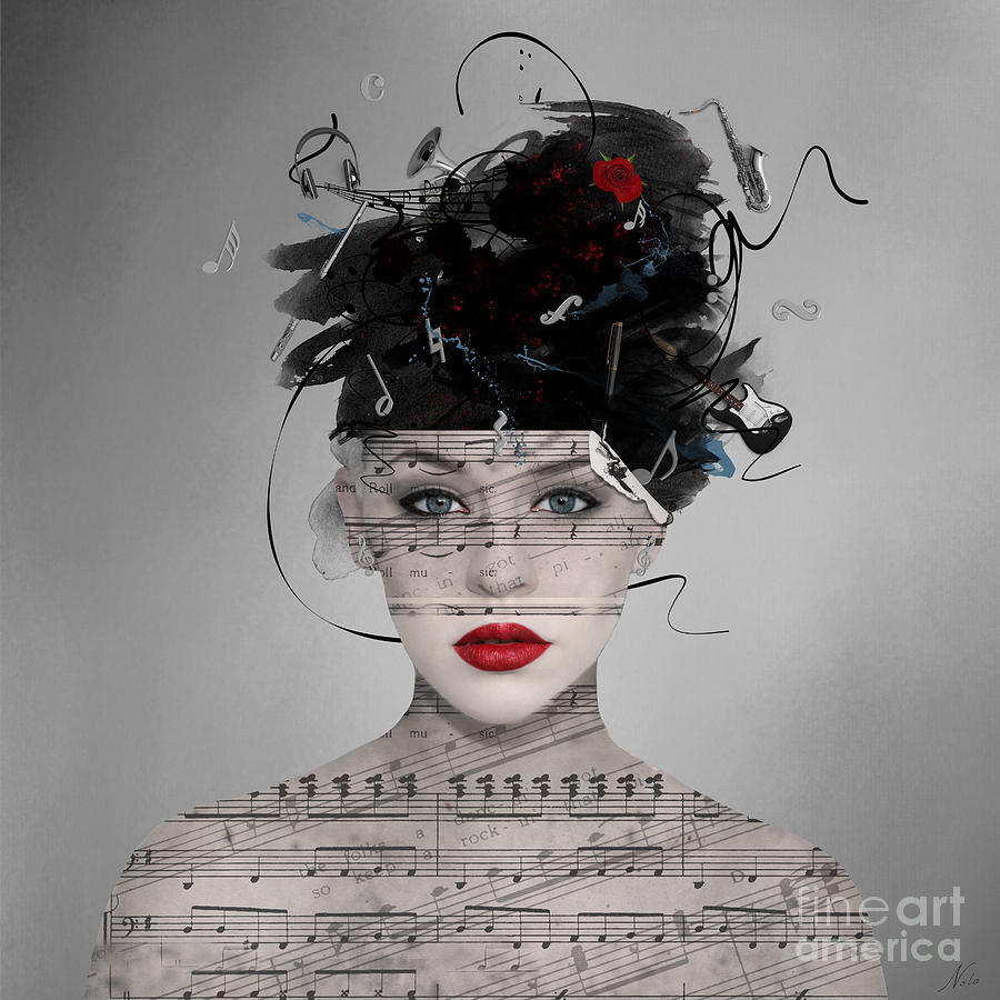 Music Digital Art - Songwriter by Nola Lee Kelsey